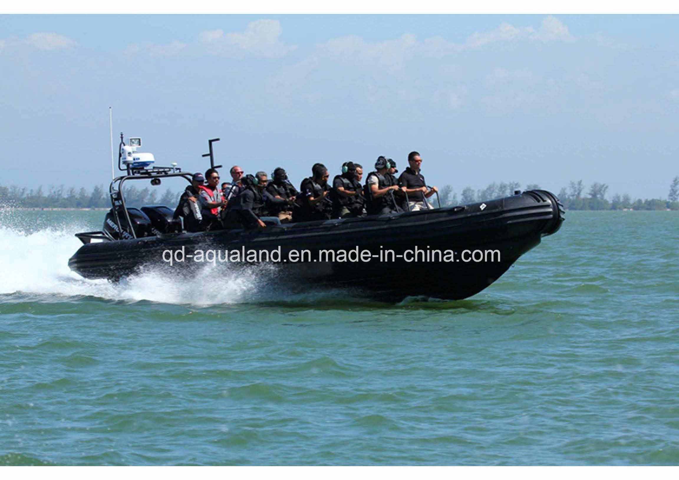 Aqualand 35feet Rib Patrol Boat/Fiberglass Rigid Inflatable Boat (RIB1050)