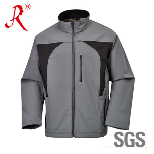 Stand Collar Long Sleeve Men Winter Sports Softshell Jacket (QF-402)