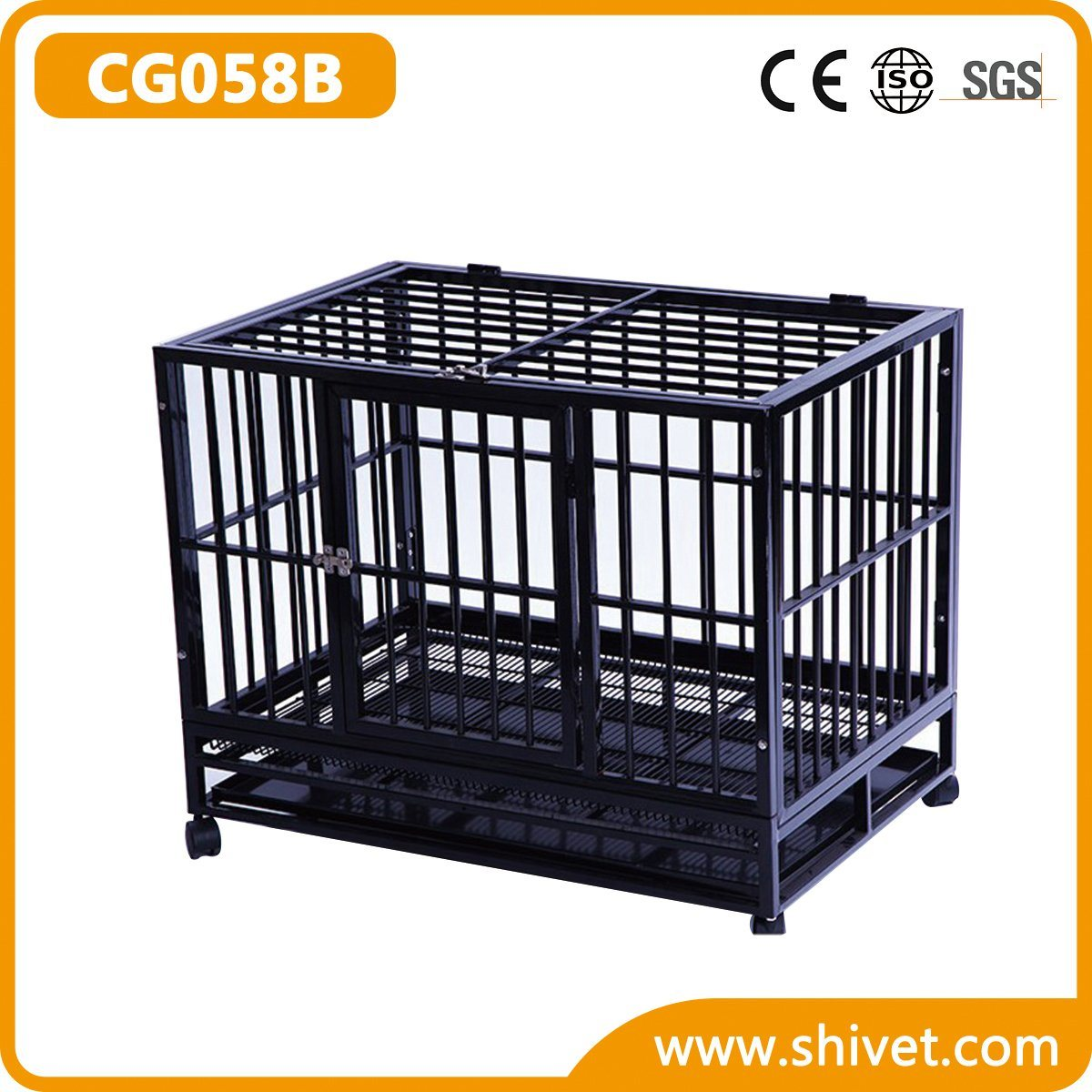 Square Tube Dog Cage (CG058B)