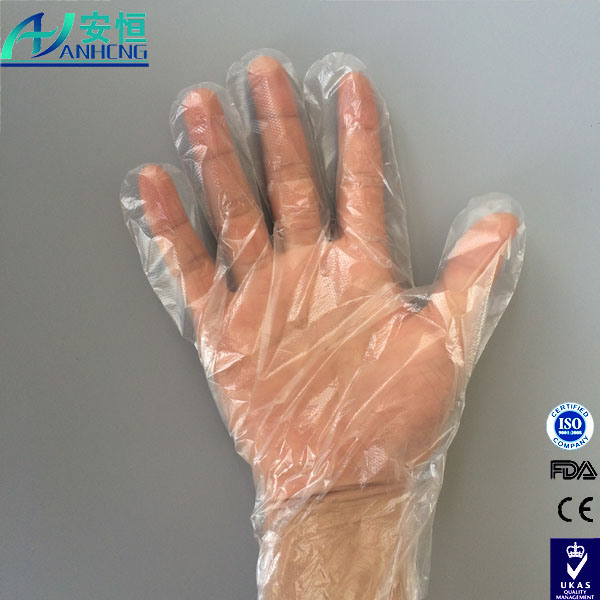 Disposable Protective Transparent Poly Gloves for Food Handing