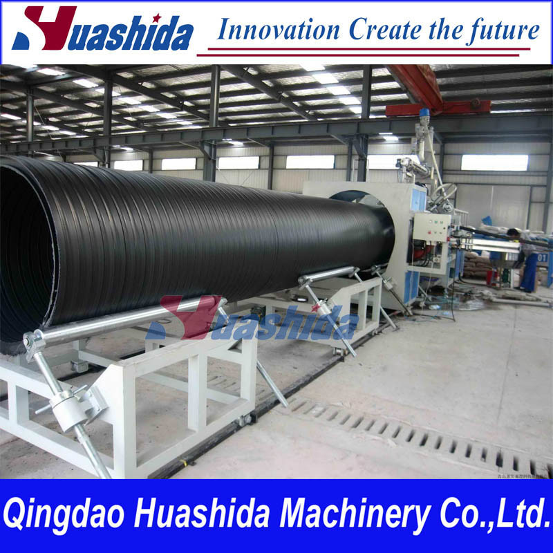 HDPE Hollow Wall Spiral Pipe Extrusion Line Plastic Extruder