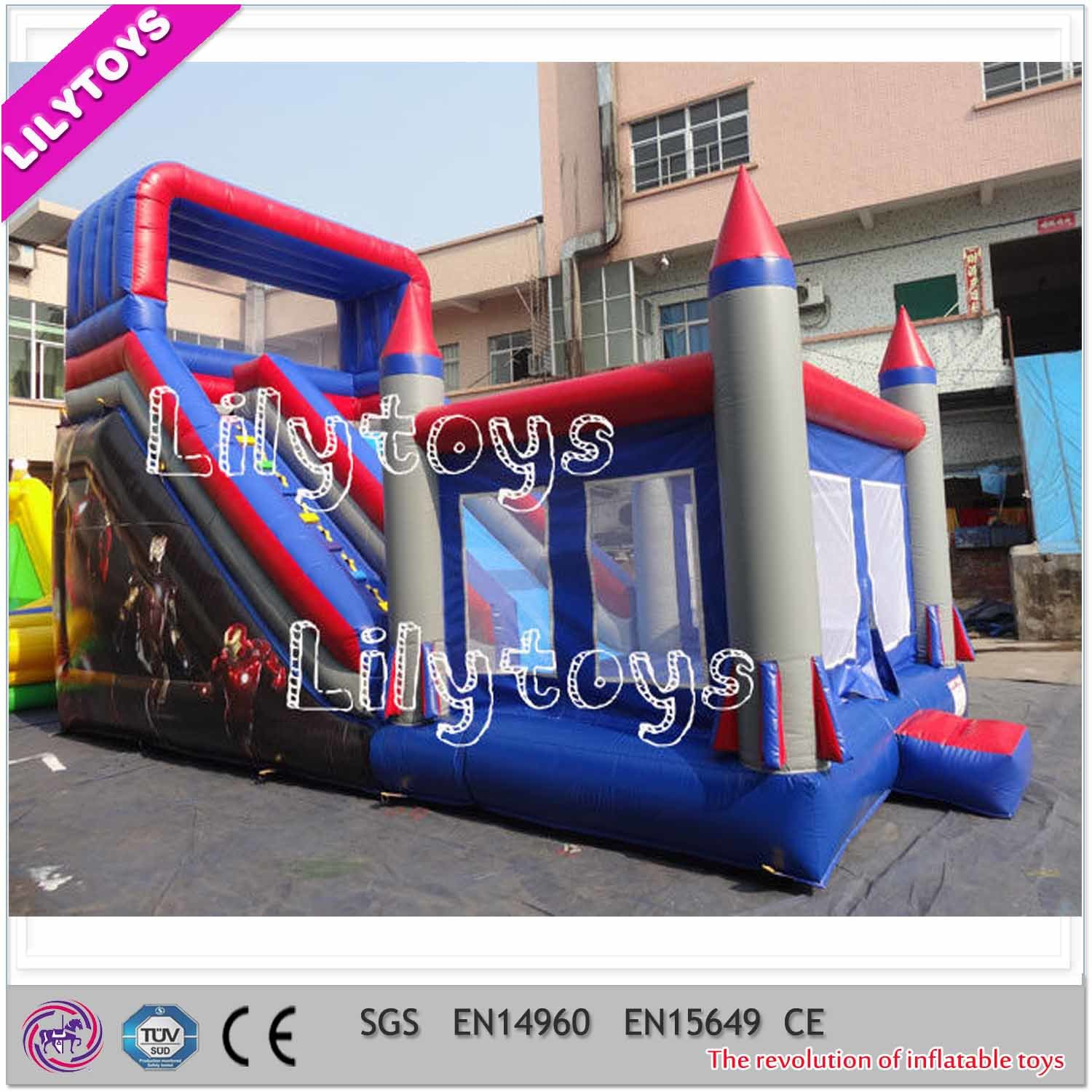 Inflatable Jumping Bouncy Castle/Inflatable Bouncer with Slide Combo