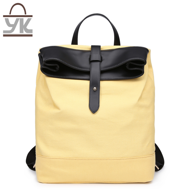 Practical Unisex Contrast Color Designer Handbag Canvas Backpack