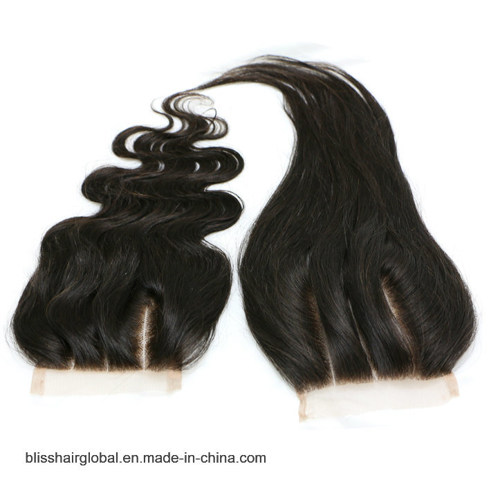 Bliss Hair 3.5X4 Lace Closure Three/Free/Middle Part Top Swiss Lace Closure Body Wave Peruvian Virgin Human Hair Closures Pieces