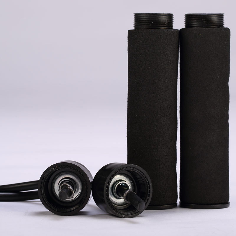 Foam Handle Weighted Leather Jump Rope