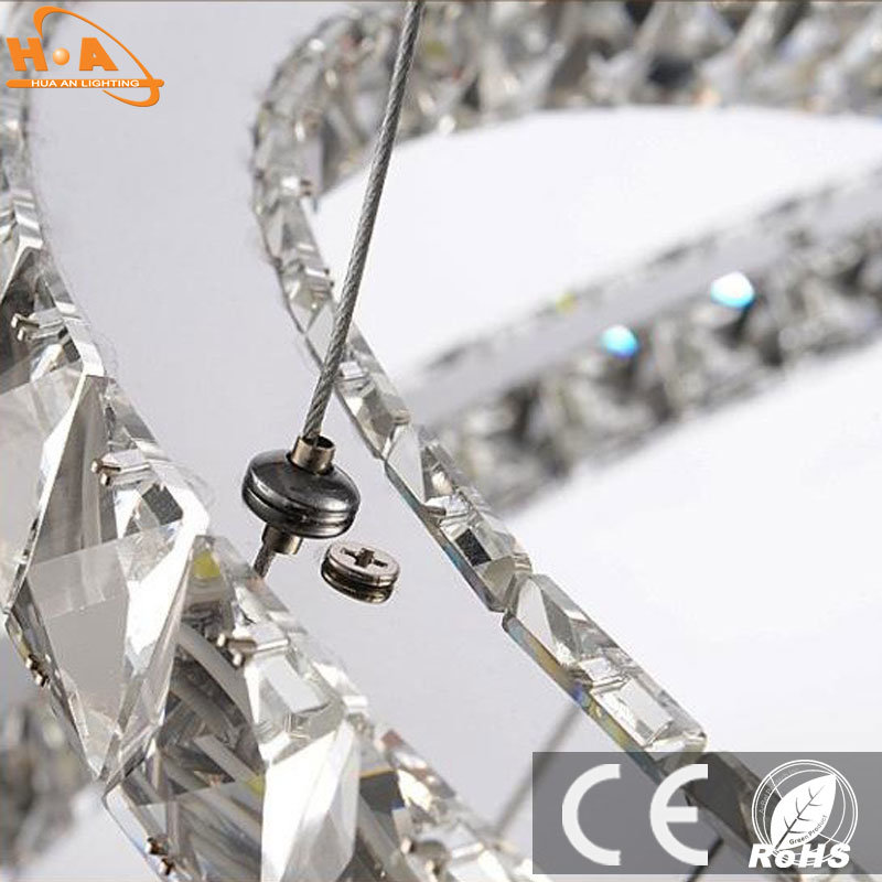 Three Rings Pendant LED Modern Crystal Chandelier