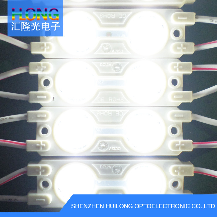 5050 LED Module with Lens 0.5W 2 LED Chips