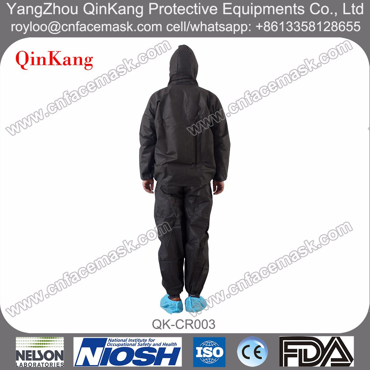 Spunbond Coverall Suit (Jacket & Trousers) for Painting and Cleaning Protection