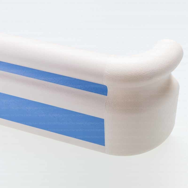 Anti-Bacterial and Anti-Collision 159mm Width PVC Handrail for Hospital