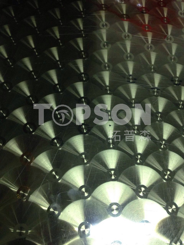Stainless Steel Sheet Circular Brushed Finish Decorative