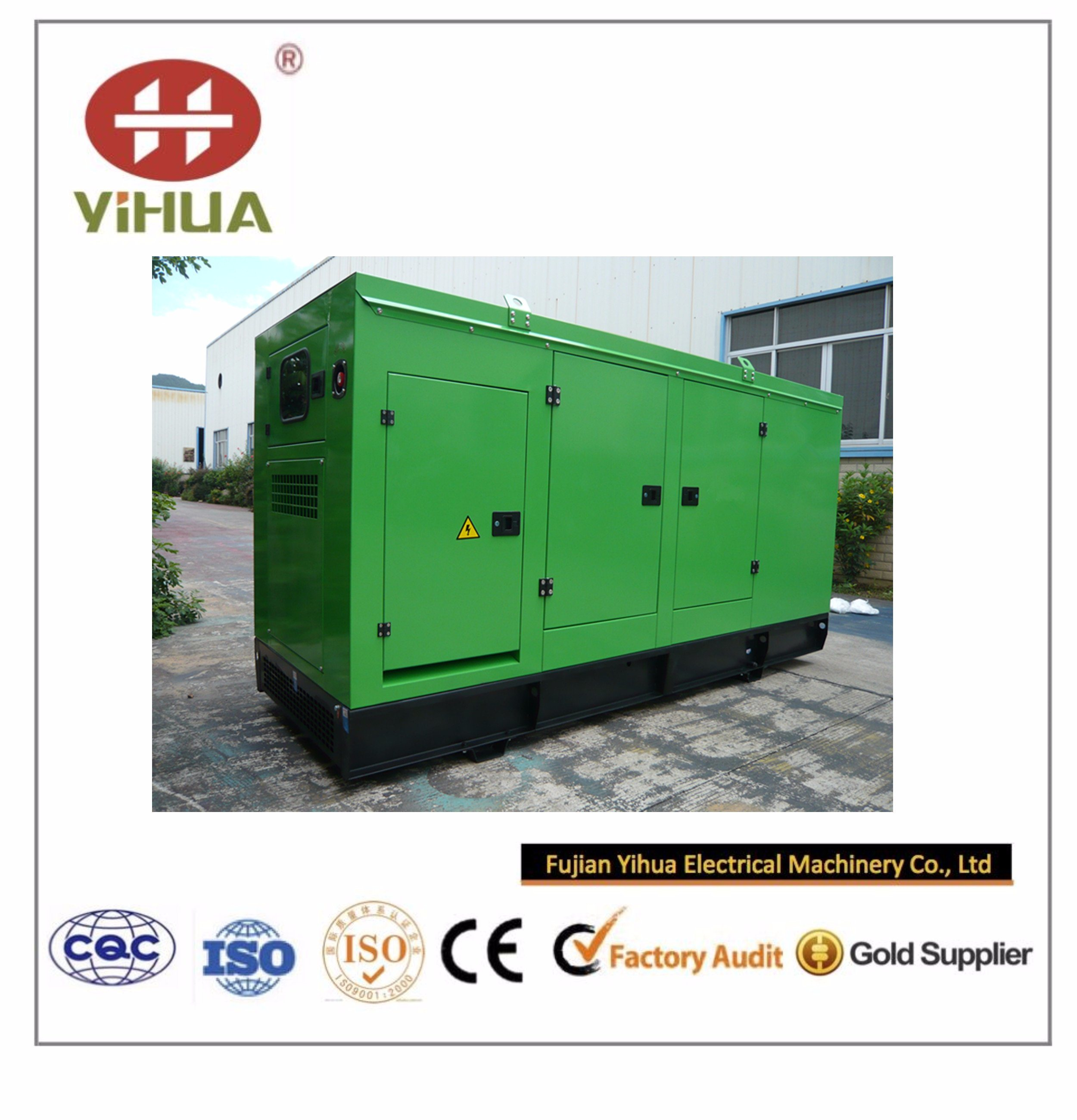Cummins Power Soundproof Generator with CIQ/Soncap/Ce Certifications (20kVA~250kVA)