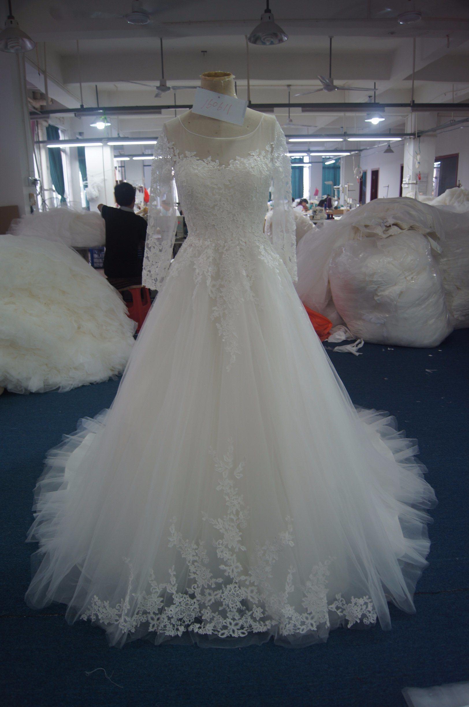 New Arrival Long Sleeves Bridal Wedding Dress