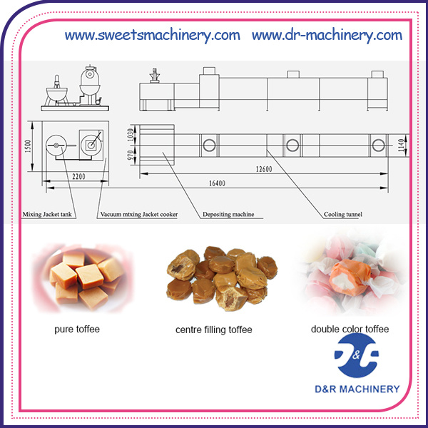 Toffee Candy Depositing Line Automatic Candy Processing Machine