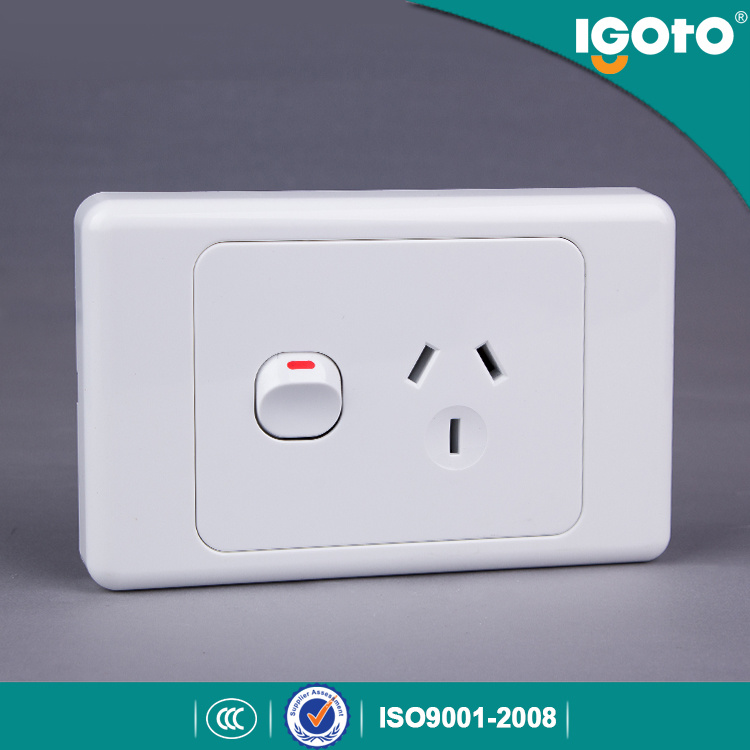 As313 Low Price Universal SAA Australia Standard 10A Single Power Point Wall Switch Socket