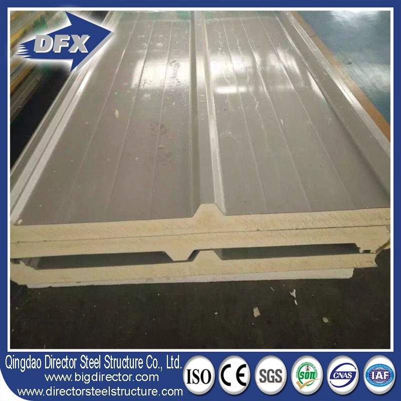 Wall Roof Aluminium Steel EPS/PU/Fiberglass/Rockwool Sandwich Panel