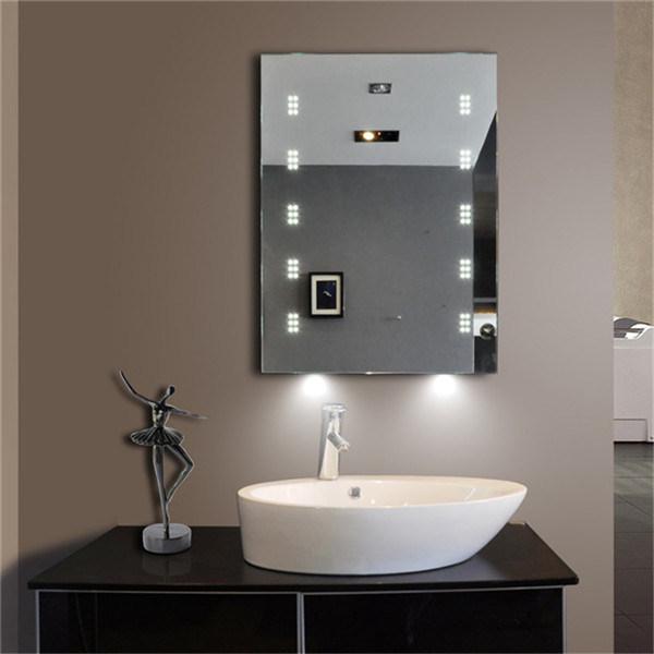 UK Bathroom Sensor Switch Smart Function LED Illuminated Mirror