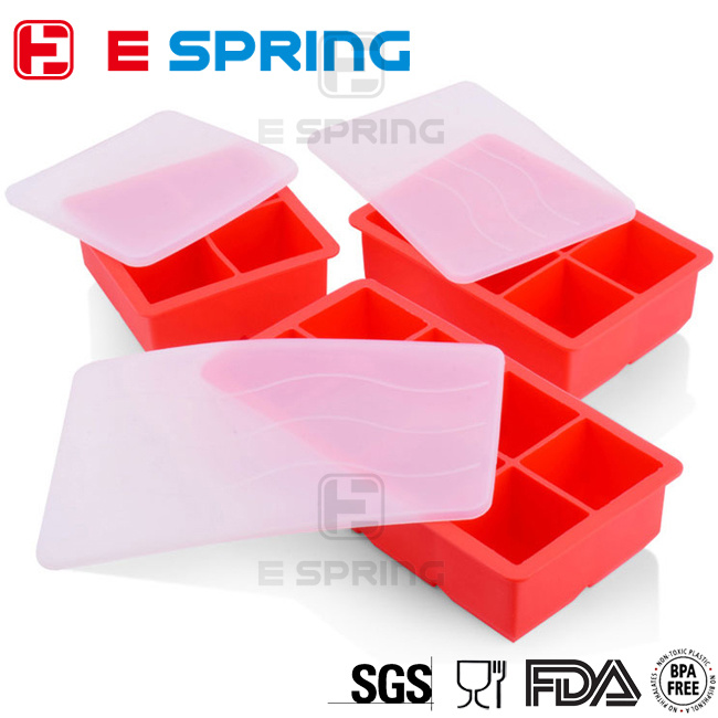 DIY Creative Big Ice Cube Mold Square Shape Silicone Ice Tray Fruit Ice Cube Maker
