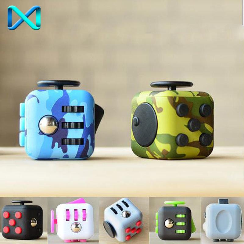Camo Green Stress Relief Focus 6-Side Fidget Cube Dice Adults Kids