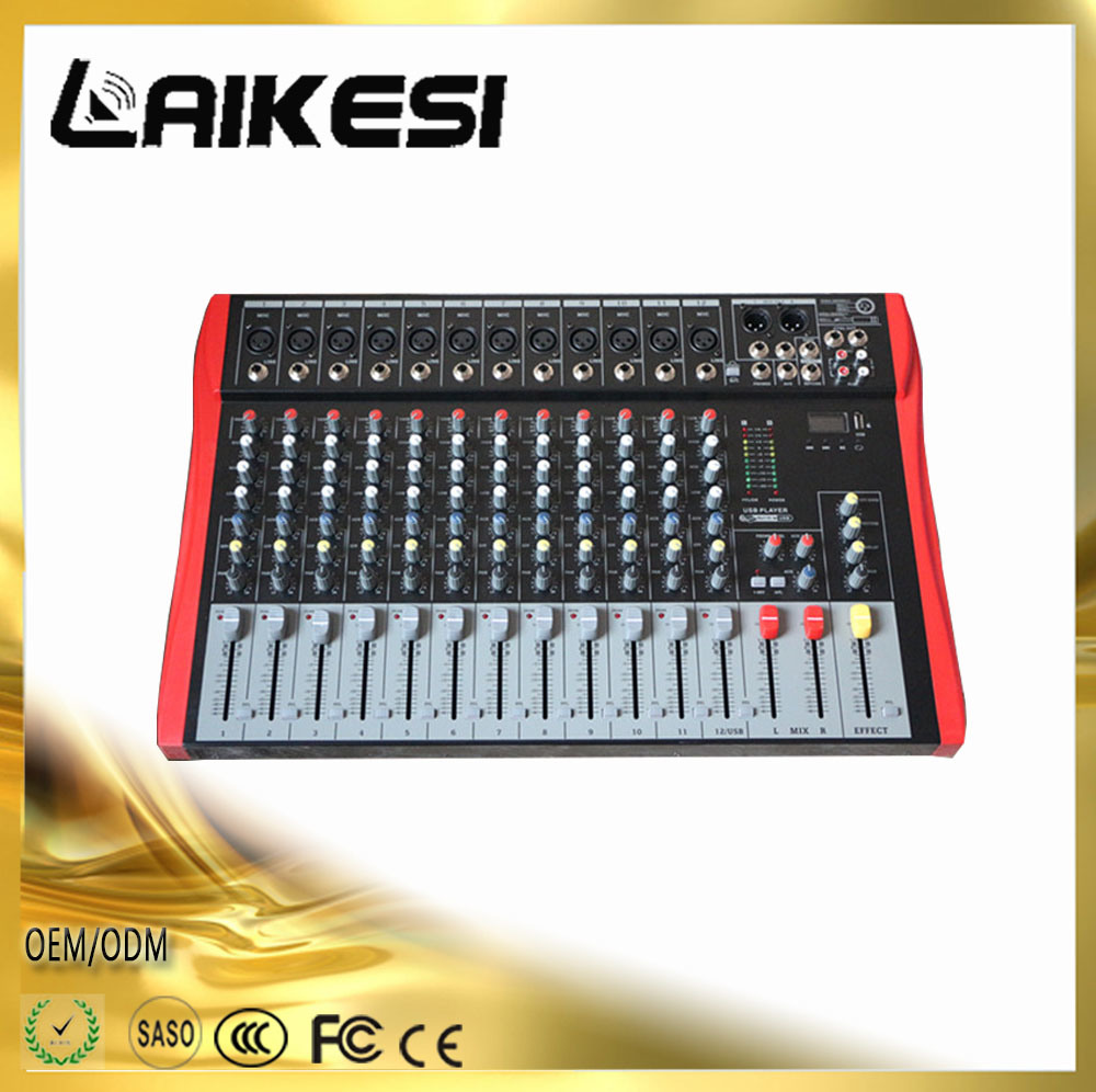 CT-120s Professional 12 Channel Professional Audio Mixer