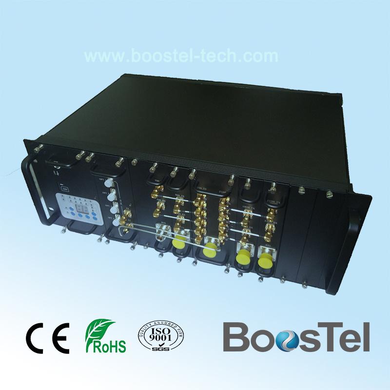 3G&Lte Quad Band Fiber Optic Repeater 700MHz 850 MHz 900MHz 2100MHz