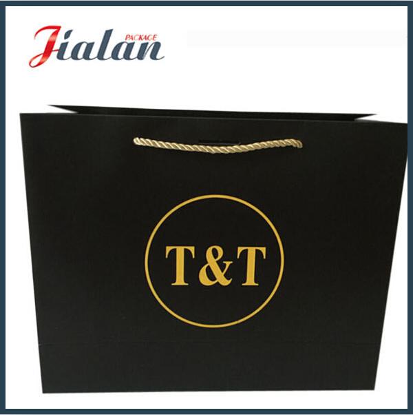 Wholesales Black Logo Printed Custom Kraft Paper Bag