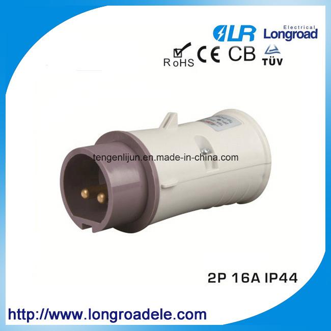 IP44 Electric Plug, 2 Pin Round Pin European Plug