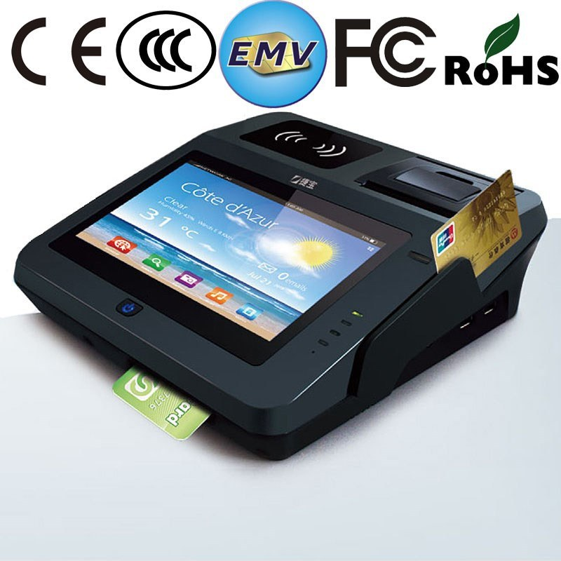 Dual Screen Android POS Swipe Card Reader with Printer/ Bluetooth