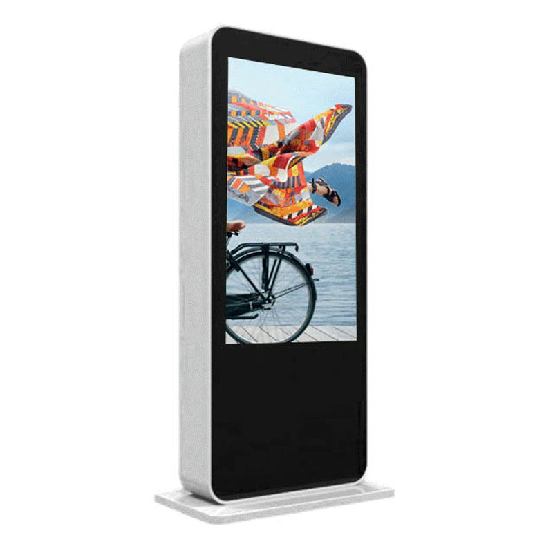 65 Inch Outdoor LCD Digital Signage Floor Stand Touch Screen Kiosk