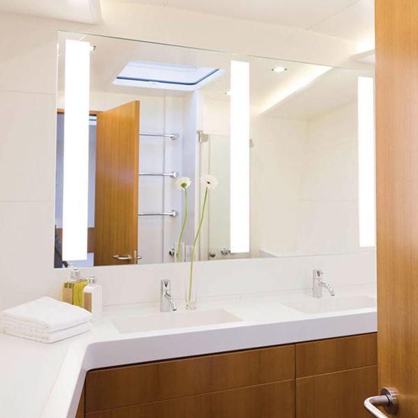 Hotel Electric Lighted Frameless Mirror UL LED Backlit Mirror