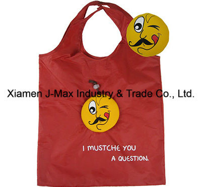 Foldable Shopper Bag, Mustache Style, Gifts, Grocery Bags and Handy,