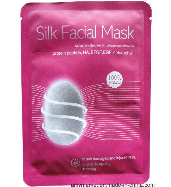 100% Natural Silk Collagen Micromolecule Face Care Silk Facial Mask