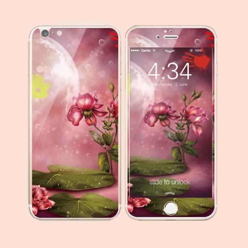 High Quality Colorful Tempered Glass Both Sides Screen Protector for iPhone6/6s Plus in Stock