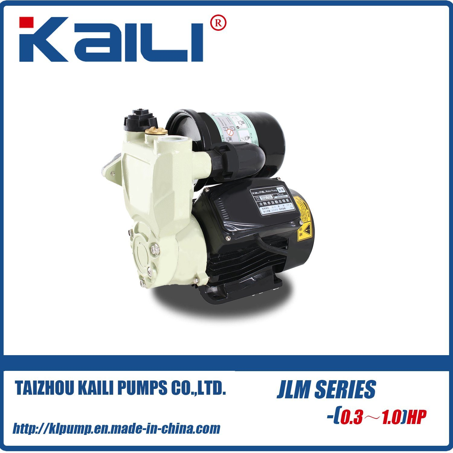 New Designed JLM Series Automatic Self Priming Pumps