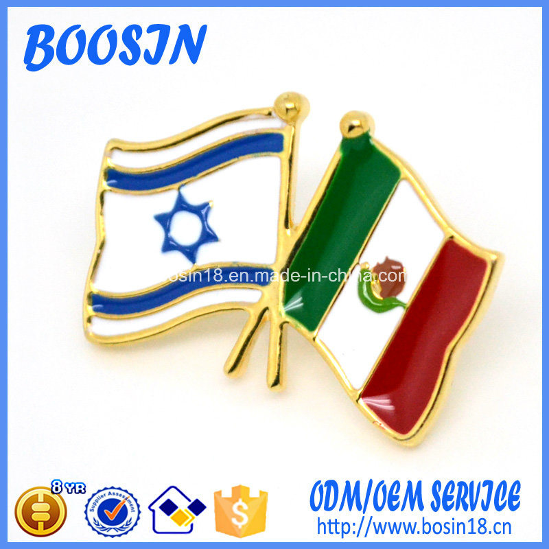 2017 Latest Popular Fashion Flag Metal Pin