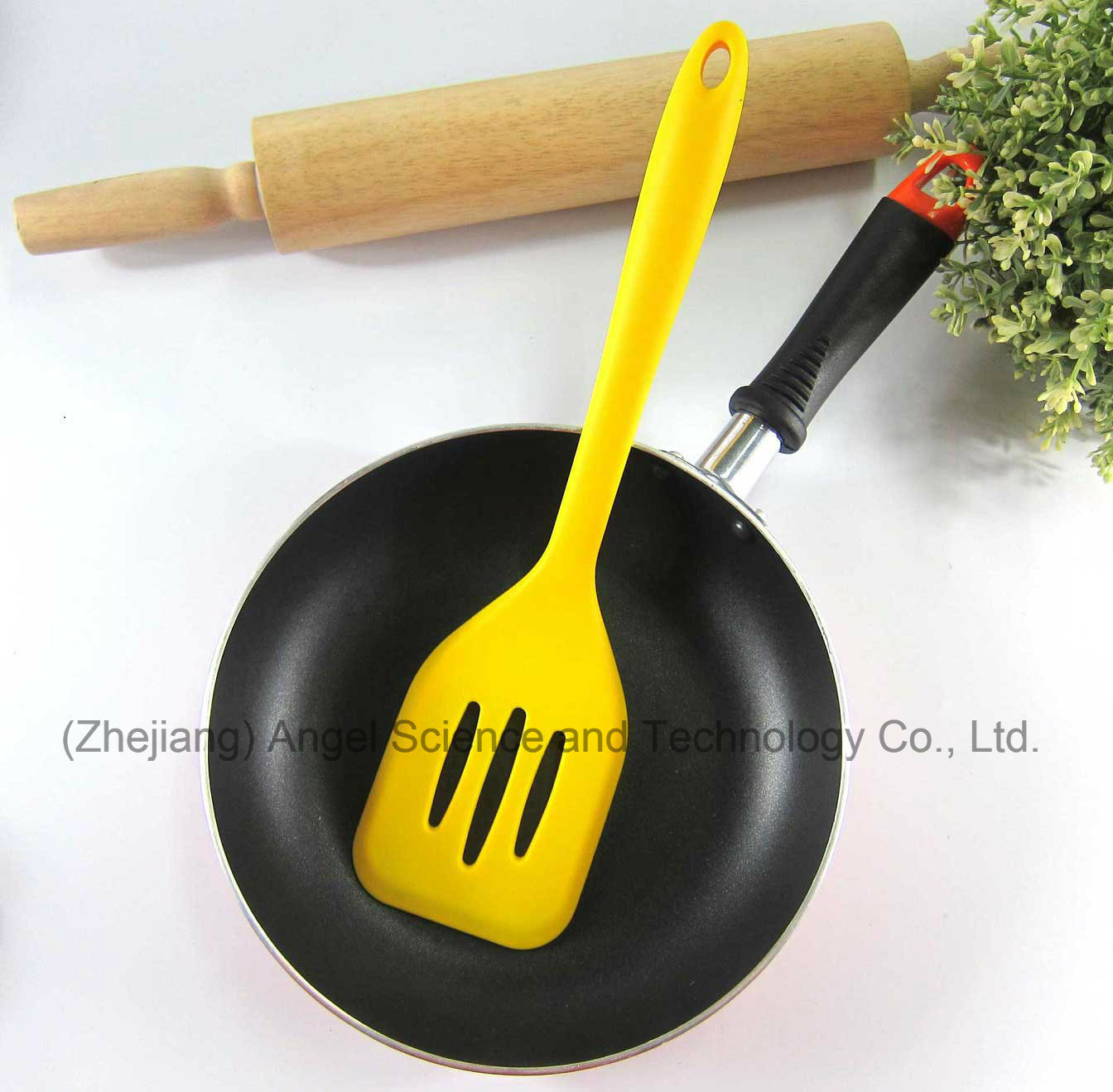 Non-Stick Silicone Cookware Silicone Slotted Spatula for Kitchen Ss11