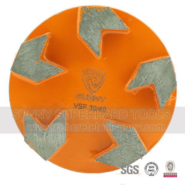 2 Pin Diamond Floor Grinding Plate for Prep/Master Grinder