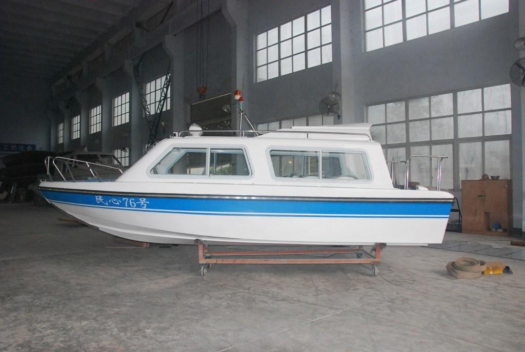 10 Persons Cabin Passenger Fibergalss Boat