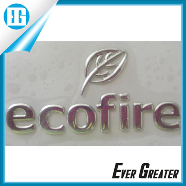 Best Selling Silver Chrome Sign Sticker Logo