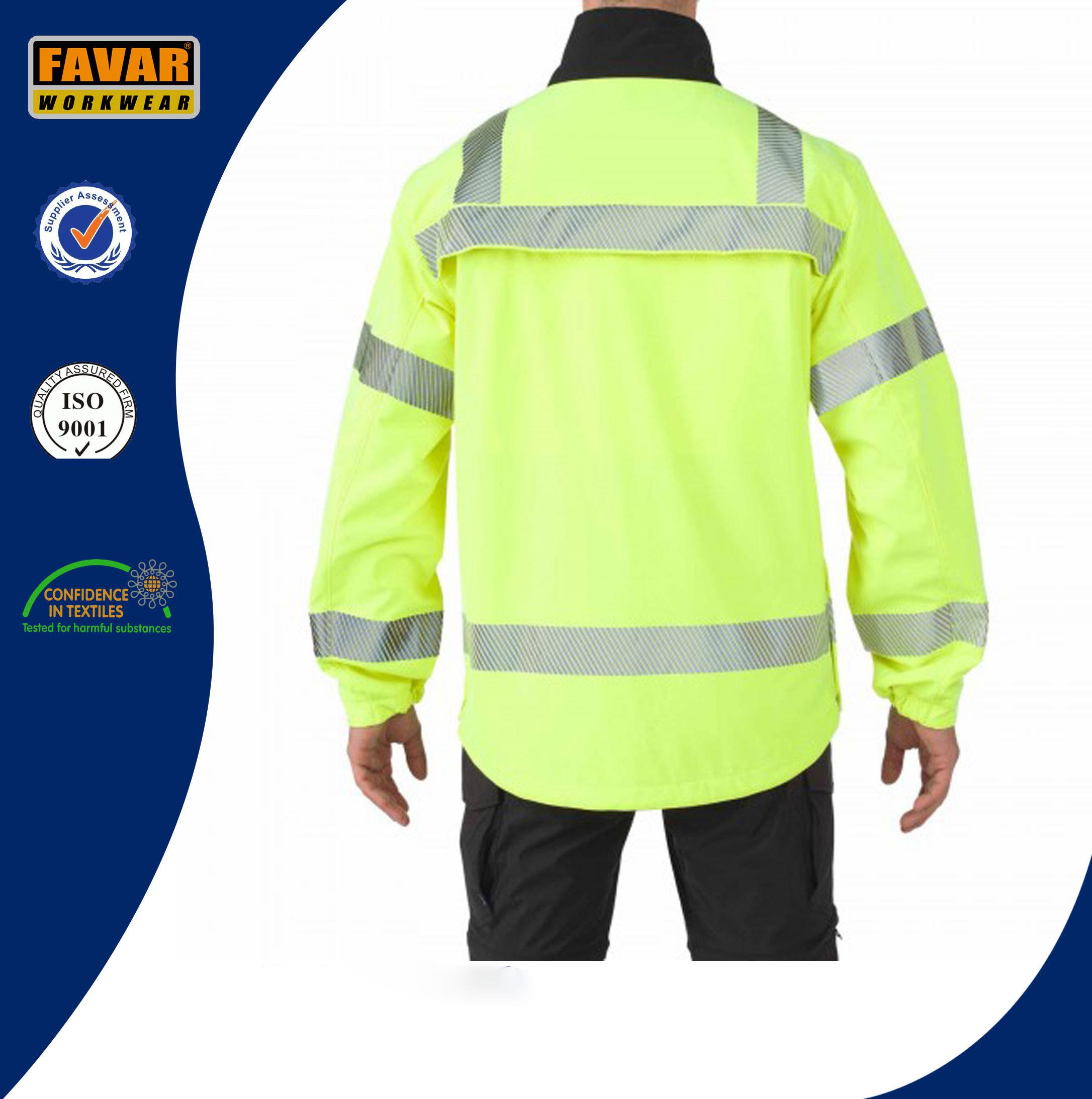 Wholesale Traffic Hivis Waterproof Reflective Safety Softshell Jacket