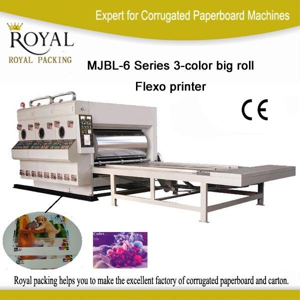 Mjbl-6 Series 3-Color Big Roll Flexo Printer