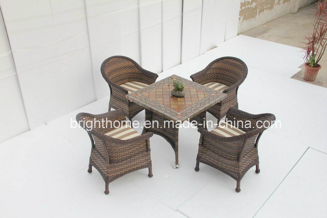 Dining Set New Design Wicker Furniture/Patio Garden Outdoor Furniture (BP-3017)