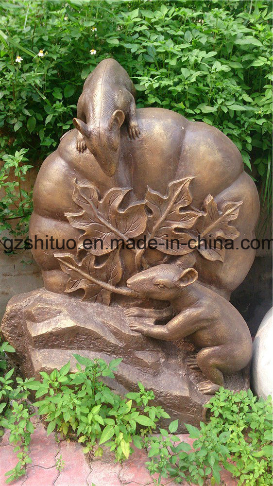 12 Zodiac Signs, Outdoor Garden Decoration Cast Copper Sculpture