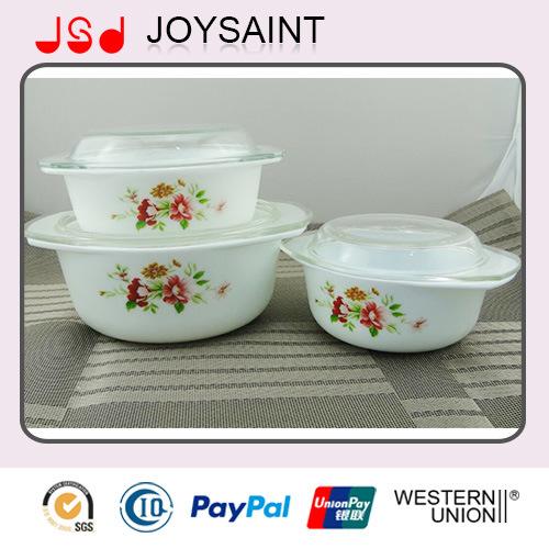 Flower Opal Glass Casserole