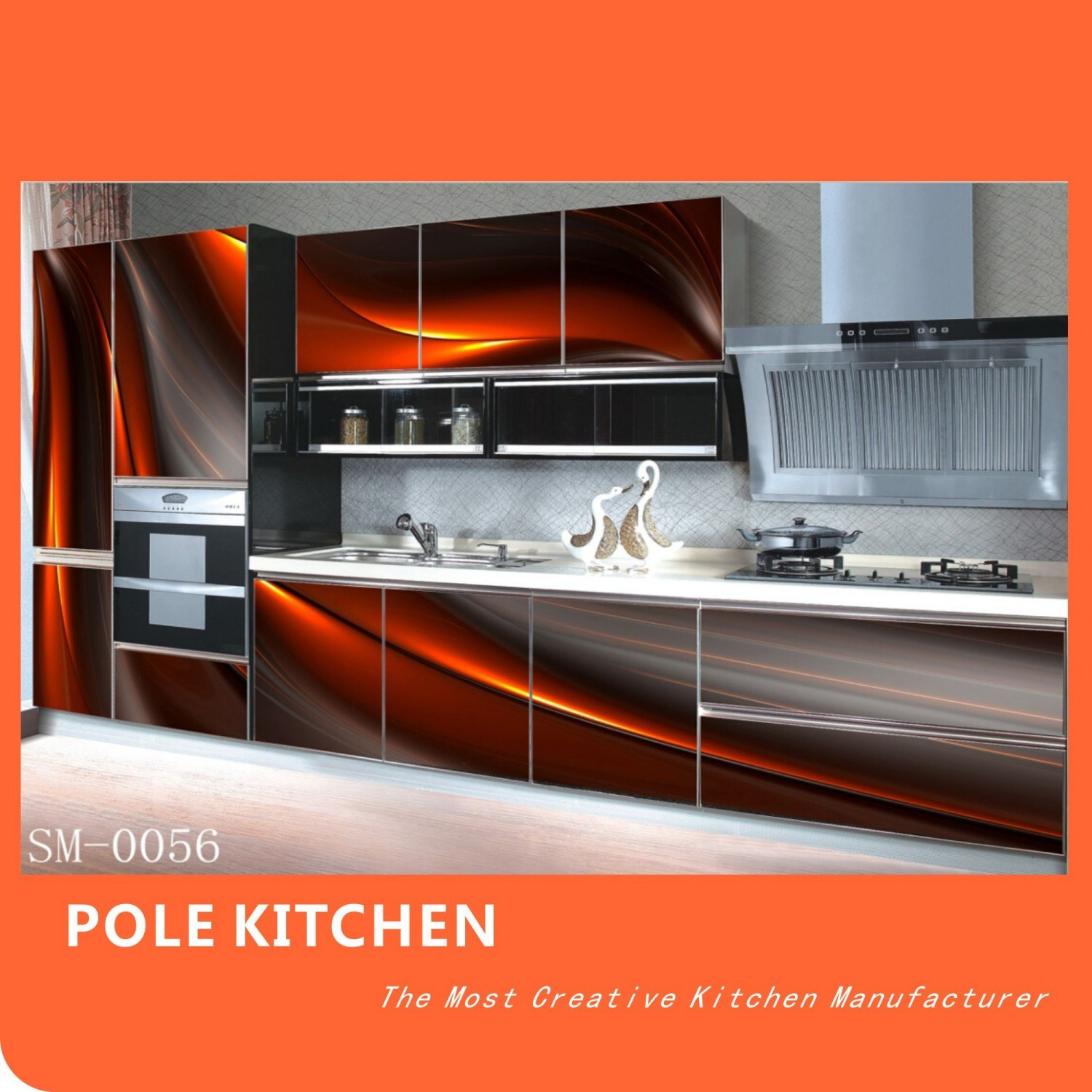 China manufacturer 3d effective kitchen cabinet sm0056 for 3d kitchen cabinets