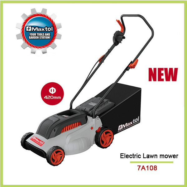 2000W 420mm Heavy Duty Lawn Mower with Height Adjusment