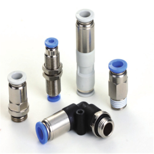 Plastic Quick Connect Pneumatic Stop Fitting of Check Valve