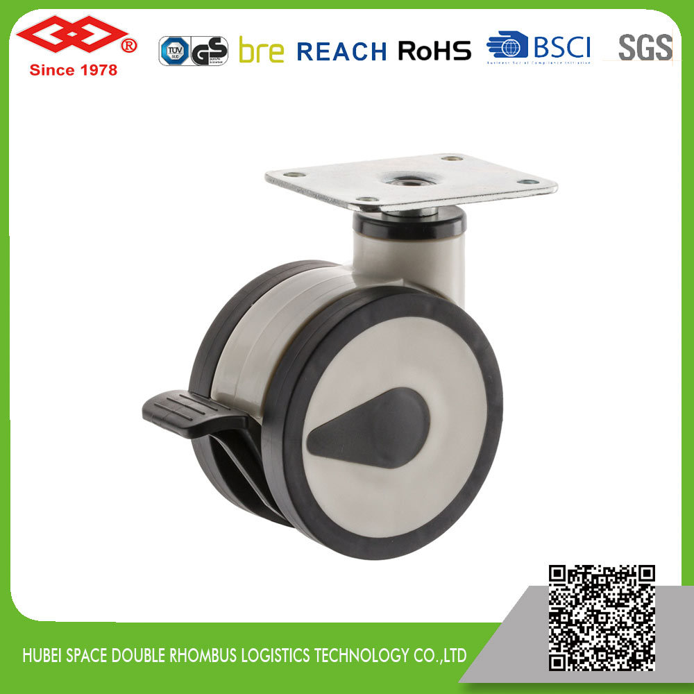 All Size Swivel Plate with Brake Medical Castor (P530-34F125X60DS)