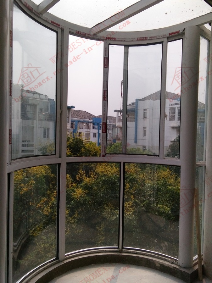 High Standard Aluminium Curved Sliding Window and Door (BHA-SWA02)