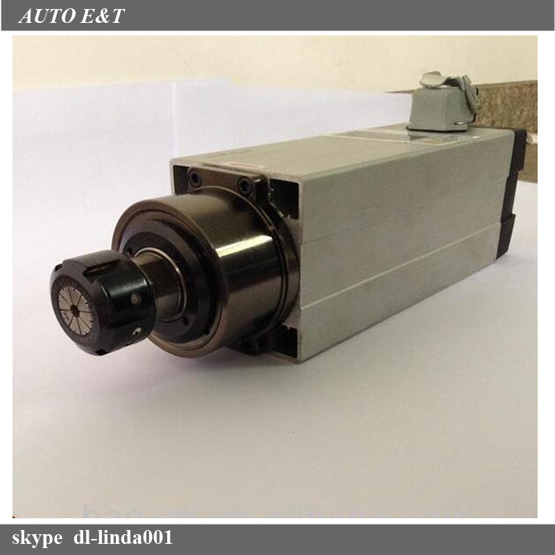 3.5 Kw Square Air Cooling High Speed Spindle Motor for CNC Machines