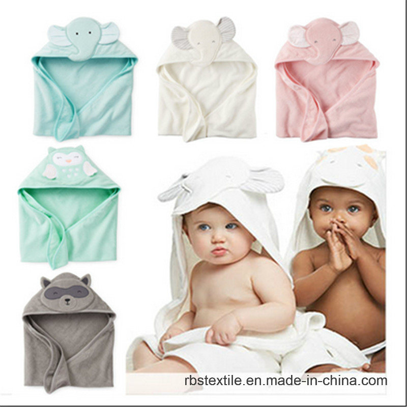 Baby Cotton Bath Blanket Hooded Towel with High Quality
